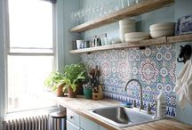 Moroccan Style Home / Colourful Moroccan type ideas for kitchen & other spaces.