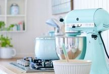 60's Kitchen Colours / Retro colouring ideas from 50's & 60's.
