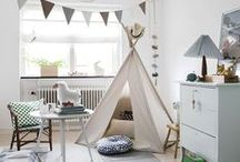 Kids Room Inspo / Fun and playful, rooms for the kids! #badassdesign and inspirations we've pinned from others.