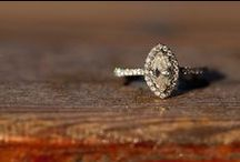 Marquise Diamond Engagement Rings / Pretty marquise cut diamond engagement rings with halos and in vintage style.