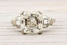 Asscher Diamond Engagement Ring / Amazing asscher cut diamond engagement rings! Ooooh the symmetry is bedazzling. Whether it's a solitaire or halo...vintage or modern, it's sure to captivate.