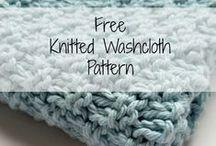 Free knit washcloth patterns / Free knitting patterns for easy to make washcloths.