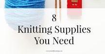 knitting sizing and basics / knitting basics, knit sizing, knitting must haves