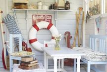 Dream Beach Hut / Ideas on how I could create my dream beach hut - beach life, life's a beach, beach hut decor and interiors.