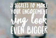 Engagement Ring Shopping Tips & Advice / Bringing you the best engagement ring shopping advice and tips. (What the jewelry stores don't want you to know!)