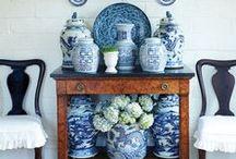 Blue & White Decor / Swoonworthy blue and white styling ideas!