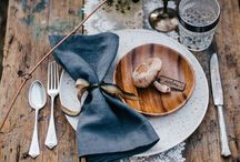 Place Settings / Napkin+China+ Menu+ Flatware+Glassware