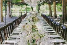 Outdoor Wedding Style / Alfresco weddings are set to be a key trend for 2015. Tables are left uncovered or simply adorned with a vintage lace cloth. Lush garlands get turned into runners and loosely styled floral centerpieces hang from above.