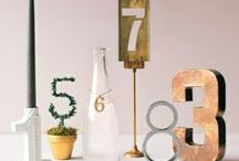 Table Numbers / Table numbers we love!