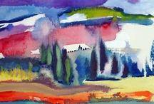Watercolor Landscapes: Gloria Rabinowitz