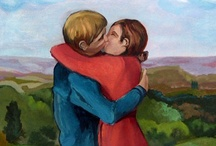 Couple Paintings: Gloria Rabinowitz / We all hope to love, to be loved and to be deserving of love. The paintings and drawings below are a tribute to love.