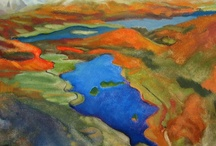 Landscape Paintings: Gloria Rabinowitz / Paintings of  Travels to: Beacon, NY, Crater Lake National Park, Oregon, Sante Fe, New Mexico by New York artist Gloria Rabinowitz