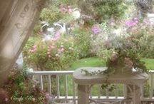 Patios, Porches...my outside rooms... / Finally...It's time for gardens, patios, and porches...Time to plant flowers, and decorate outside.  Time to use some of these tips I have been collecting...   :)  / by Celeste