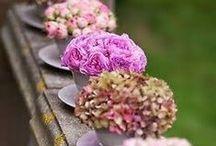 Mariage shabby chic / Une thème dans les tons pastels avec des décorations florales. Un caractère décoratif frais et printanier pour une réception chic