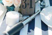 Mariage Marin / Un thème très tendance pour l'année 2015 : la décoration marine. Proposez à vous invités un joli voyage à bord du voilier de votre bonheur
