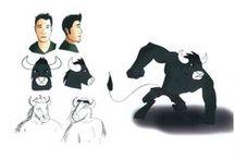 Cinéma d'Animation 2D/3D - Anthropomorphisme / Les étudiants en 1ère année Cinéma d'Animation 2D/3D s'inspirent d'un membre de leur entourage et associent leur trait de personnalité à un animal