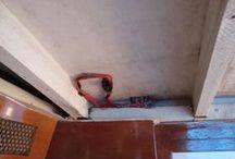Wiring behind headliner / Bilder som viser hvor ledninger befinner sag bak taktrekket