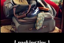 { packing tips } / Do you tebd to overpack and have to sit on your suitcase to get it closed? Here are some tips & tricks for packing your carryon & suitcase(s) to make the best use of limited space and to help you travel lighter.