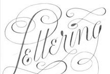 lettering / hand lettering and calligraphy resources, examples and just the whole beauty of writing