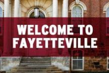 Welcome to Fayetteville! / The University of Arkansas has been the center of higher education for nearly 150 years and recently joined the top 2% of research schools in the nation. Fayetteville, Arkansas offers a wide variety of natural beauty and adventure. / by Arkansas Razorbacks