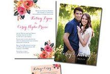 Floral / Beautiful Floral Invitation ideas! Enjoy!