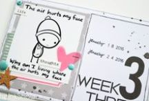 The Ink Show - Pocket scrapbooking / My Project life projects