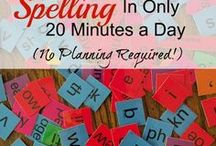 Homeschool Spelling / Here you will find information about homeschool spelling curriculums, hands on spelling activities, and spelling lesson ideas.