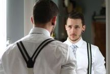 Men wearing suspenders / Mean wearing suspenders!