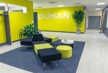 Sisu Interior: Logo walls / #logowalls #officebranding #toimitilabrändäys #logoseinät