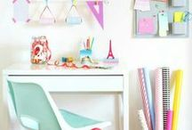 Dream Desks | Home Office / Bold and Pop is a colorful collective always looking for cute home office decor ideas.  home office, office, cute desk, cute office, work from home, entrepreneur, entrepreneurs, bright office, home decor, home decorating