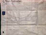 Antique Vellum Indentures & Other Documents