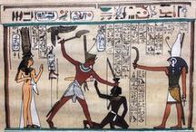 Hand Painted Egyptian Papyrus Paintings / A selection of items that are for sale in our ebay shop. http://stores.ebay.co.uk/antiquesandcollectables4u