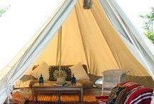 Glamping (glamorous camping)