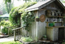 Garden/Potting Sheds / Cute little working/storage areas / by Penny Trotter