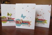 Cards -- 2 / A modge podge of cards that inspire me with design, color and content. / by Vickie Merrick