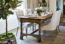 Dining Rooms - Dine in Style / Like to have guests over for dinner? Get great ideas on furniture, decoration, table settings and more for your dining room.