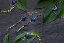 Rosehip Jewelry sapphire and lapis lazuli / Sapphire and lapis lazuli designs from Rosehip Jewelry launch collection