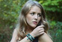 Beaded stacking bracelets / Handmage gemstone beaded stacking bracelets by Rosehip Jewelry