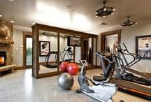 Home Gym - Work up a Sweat / Get inspires to exercise with decorating Ideas for your home gym and health and fitness tips and tricks.