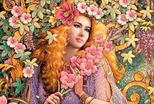 """Karl Bang / """"To me, women depict peace of mind, natural beauty, and variance of emotions."""" ~ Karl Bang"""