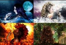 The four Elements / ~ AIR moves us ~ FIRE transforms us ~ WATER shapes us ~ EARTH heals us ~