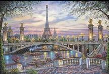 Robert Finale / His paintings will transport you to a time and place of private charm!