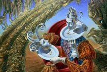 Michael Cheval / Michael Cheval (Russian)  is a great artist specializing in Absurdist paintings, drawings and portraits.