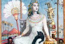 Cleopatra VII in Art / Cleopatra VII Philopator (januari 69 v.Chr. – 12 augustus 30 v.Chr.) was koningin van het oude Egypte, het laatste lid van de Ptolemaeïsche dynastie en daarmee de laatste Hellenistische heerseres van Egypte. Ze is verreweg de bekendste van de vele gelijknamige Egyptische vorstinnen en wordt gewoonlijk kortweg als Cleopatra aangeduid. ~~ Cleopatra VII Philopator was Queen of ancient Egypt, the last member of the Ptolemaic Dynasty and the last Hellenistic ruler of Egypt.