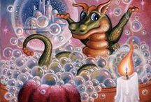Randal Spangler / The Randal Spangler collection of whimsical, colorful artwork is magical indeed.  With each piece, and with each paint stroke, a story is told, a memory remembered and an adventure is yet to be encountered!