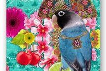 ✿¸.•❤•.❀•.Ƹ̵̡Ӝ̵̨̄Ʒ Melli Mello Ƹ̵̡Ӝ̵̨̄Ʒ.•❀.•❤•.¸✿ / Een unieke mix van romantiek, bloemen en andere elementen, gecombineerd met paradijselijk versierde dieren, of dierlijke patronen. ~ ~ Melli Mello is a new brand based on a Global trend called Cross Cultural mix.