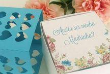 Convites Madrinhas e Padrinhos / Sugestões criativas para honrar aquelas pessoas especiais.