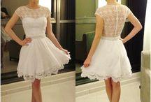 Vestidos curtos para Noivas / Ideais para casamentos civis ou Mini Wedding