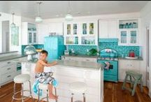 """Just Say No to Stainless Steel Appliances / I'm over the whole HGTV """"must have stainless steel appliances"""" thing.  It's time to bring color back to our kitchens."""