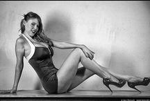 Black And White Lingerie Models / Pin up,  Burlesque, models, photo by Igor Katrach. http://katrach.com ik films, 1k films